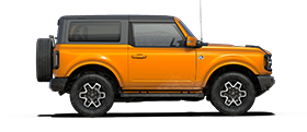 2021 Ford Bronco outer banks in cyber orange