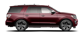 2020 Ford Expedition Platinum side profile in Burgundy Velvet